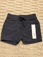 NWT infant baby boy Jumping Beans light cotton canvas black shorts 3 M months