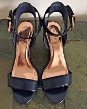 Ted Baker London Lernox Wedge Sandal SIZE 40 US SIZE 9M NAVY RETAIL: $165.00