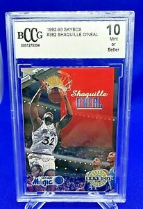 1992-93 Skybox SHAQUILLE O'NEAL Rookie Card (No. 382) BCCG Graded Gem Mint 10!