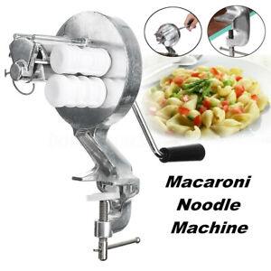 Stainless Steel Manual Hand Crank Macaroni Press Kitchen Noodle Maker   UK US1