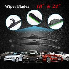 "24"" & 18"" OEM Quality Beam J-Hook Windshield Wiper Blades ALL SEASON PREMIUM NEW"
