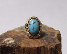 Alter Gold Ring mit einem Turquoise besetzt, 333er Gold, ca. 9.8g