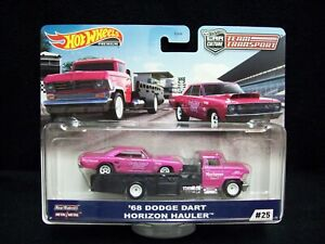 Hot Wheels Car Culture Team Transport 1968 Dodge dart & Horizon Hauler.