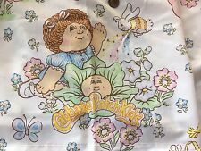 "Vintage 1983 Cabbage Patch Kids Twin Flat Bed Sheet Fabric 39"" x 76"", Clean, VGC"