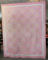 Antique Points and Petals Appliquéd Quilt