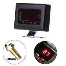12V Auto Wasser Temperaturanzeige Digital 0-120 ℃ Temperatursensor 10mm Gewinde