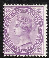 Mauritius 1879 bright-purple 38c crown CC mint SG98