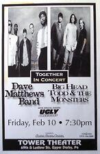Dave Matthews Band / Big Head Todd 1995 Philadelphia Tour Poster -Jam Rock Music