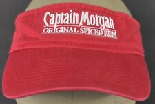 Red Captain Morgan Original Spiced Rum Co Embroidered Visor Hat Cap Adjustable