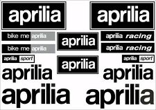 Aprilia Motorcycle Decals Stickers Bike Graphic Set Vinyl Logo 14 Pcs Black