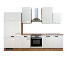Küchenzeile Küchenblock Einbauküche Elektro-Geräte 310 cm creme matt beige