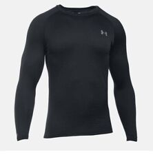 Under Armour Ua Base 2.0 Long-Sleeve Crew Black Men's sz Small S