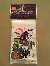 "Halloween Treat Bags Set of 40  Zipper Seal 3.8"" X 5.75"" Haunted House"
