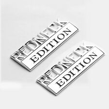 2x OEM REDNECK EDITION CAR EMBLEM Chrome Badge 3D for FORD F-150 F100 F350 Y