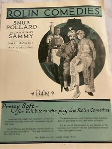 Snub Pollard, Sunshine Sammy Morrison, Our Gang, Rolin Comedies Flier