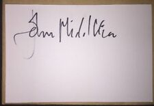 JOHN MIDDLETON SIGNED 6X4 WHITE CARD TV AUTOGRAPH EMMERDALE ASHLEY THOMAS