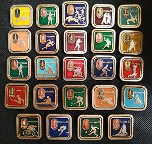 1980 XXII Olympic Games Moscow 80 Fool Set 24 pcs Pin Badge Boxing Sport USSR ☭