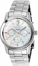 New Womens Invicta 0463 Angel Multi-Function Silver Dial Stainless Steel Watch