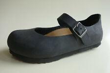 BIRKENSTOCK oiled/waxy Leather Mary Jane's Loafers MANTOVA black US4 EU35 UK2 N