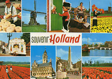 Postcard  Europe Holland souvenir of   multi viewun posted