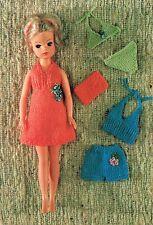 "12""  Dolls clothes knitting pattern.  .Laminated  copy.( V Doll 117)"