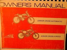 1972   Indian Motorcycle Owners Manual  Junior Cross Automatic/Junior Cross 4 Sp