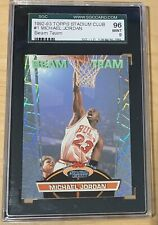 1992-93 Topps Stadium Club Beam Team #1 Michael Jordan SGC 9 Mint 96 rare card