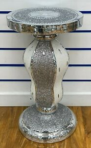 Crushed Crystal Diamond Diamante Table Vase Side Luxury Silver Bling NEW 60cm