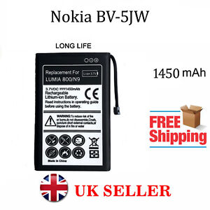 for Nokia BV-5JW Replacement Battery 1450mAh For Nokia Lumia 800  / N9