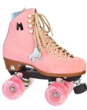 New! Moxi Lolly Roller Skates sz 9 Strawberry Pink w/ Fundae Wheels & Leash