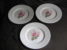 Vintage Spode Copeland Mansard Lady Anne pattern red rose side plates x 3 VGC