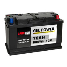 Gel Batterie 70Ah 12V Wohnmobil Versorgung Solar Boot Camping Batterie 60Ah