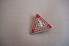 NATIONAL CYCLING PROFICIENCY Vintage Club Association Enamel Badge By J PINCHES