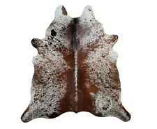 New Brazilian Cowhide Rug Leather SALT AND PEPPER 6'x8' Cow Hide