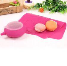 Mujiang Silicone Macaron Kit Decorating Piping Pot Pastry Baking Mat Capacity 24