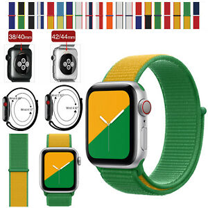For Apple Watch Nylon Strap Replacement Loop Band iWatch Series SE 6/5/4/3/2/1