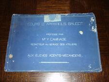 COURS D'APPAREILS BAUDOT - Mr Y. Caminade 1909 - Polycopié de cours
