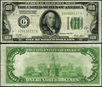 FR. 2151 G $100 1928-A Federal Reserve Note Chicago G-A Block DGS VF