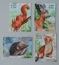france année 2001 3381 à 3384 oblitérés nature de france faune animaux ( 2 )