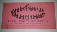 Vintage Temperance Card Signal Press 'Fun While You Learn About Narcotics'