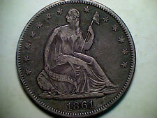 1861 -p Seated Liberty half dollar , Tough Civil War Date