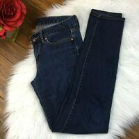 Gap Women's Dark Wash Denim Always Skinny Jeans Pants Size 25r