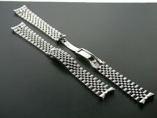 JUBILEE WATCH BAND SOLID LINK BRACELET FOR ROLEX HIDDEN CLASP 20MM STEEL HEAVY