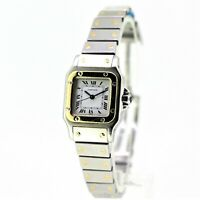 Ladies Cartier Santos -18k Gold & Steel - Automatic Galbee Bracelet - White Dial