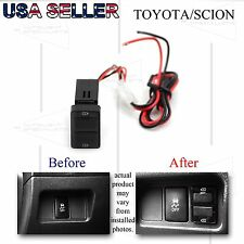 FOR TOYOTA COROLLA/CAMRY DUAL DC POWER USB ADAPTER DIRECT FIT AFTERMARKT CHARGER