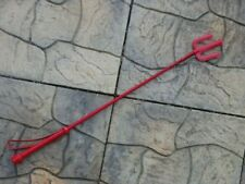 New Pitchfork Red Leather Riding Crop Quirt Equestrian - Stick Bullwhip
