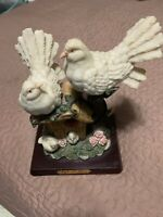 Vtg Gift Of Time White Dove Sitting On Bird House