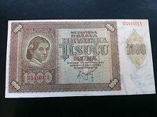 1000 KUNA 1941-CROATIA- BANKNOTES- NDH- USTASE- ANTE PAVELIĆ- HRVATSKA !!