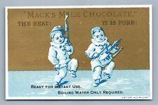 MACK'S MILK CHOCOLATE VICTORIAN TRADE CARD