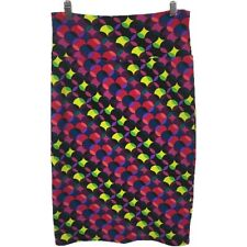 Lularoe S Small Cassie Skirt Circle Print Pencil Stretch Multicolor Versatile